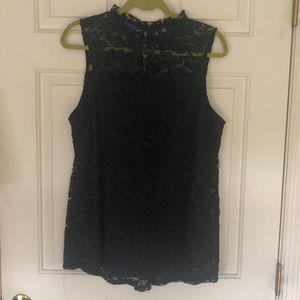 Apt 9 sleeveless blouse lined with eyelet cover